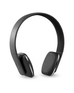 Innovative Technology Rechargeable Wireless Black Bluetooth Headphones with Rubberized Finish